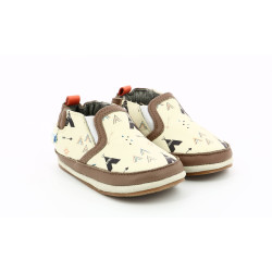 TIPY SHOE OFF WHITE LIGHT BROWN