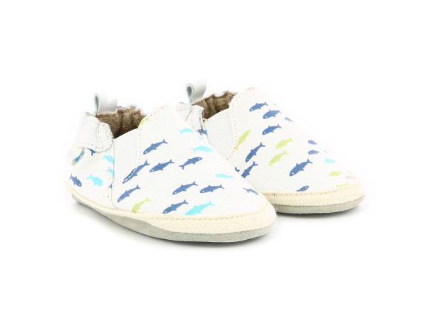 SUMMER CAMP WHITE PRINTED FISH