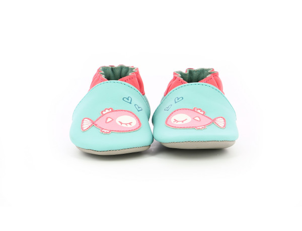 FISH IN LOVE TURQUOISE CLAIR